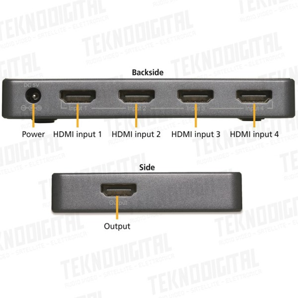 4 IN 1 OUT, 4K 3D, HDCP 2.2...